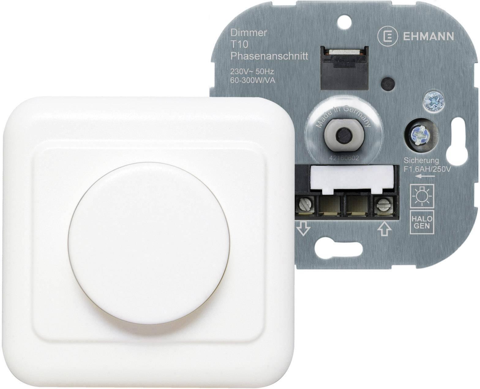 Stmívač pod omítku Ehmann Lumeo Domus Ph-An 300W 1060c0000, čistě bílá