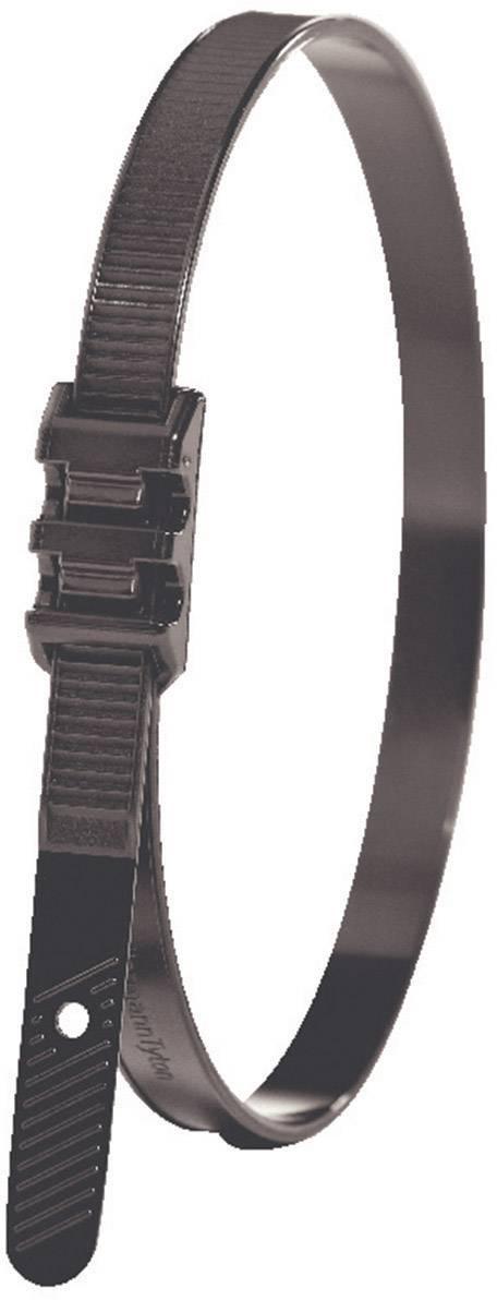 Stahovací pásek se zvýšenou odolností HellermannTyton LPH942, 180 x 9 mm, černá