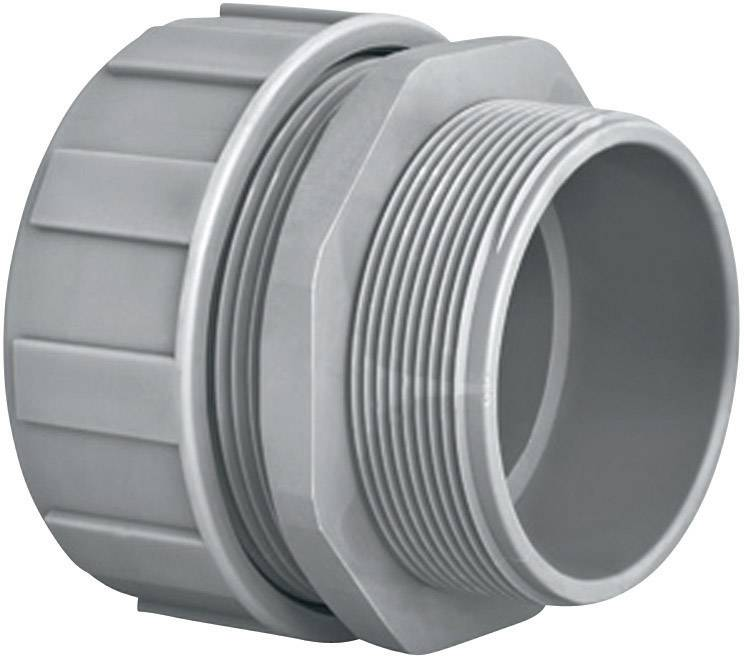 Šroubovací propojka rovná HellermannTyton PSR20-S-M20 (166-40704), šedá
