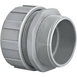 Hadicová spojka rovná HellermannTyton PSR16-S-M20 166-40703, M20, 12.60 mm, šedá, 1 ks
