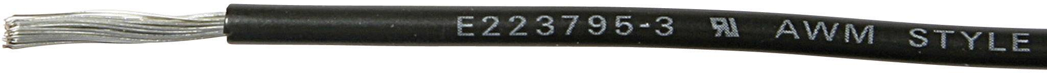Opletenie / lanko MediKabel 120180 1 x 0.90 mm², vonkajší Ø 2.15 mm, metrový tovar, čierna