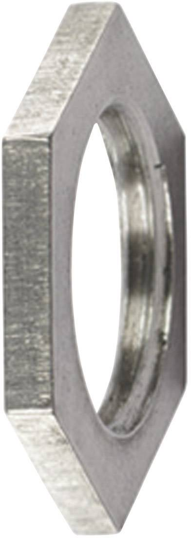 Pojistná matka HellermannTyton ALNPB-M12 166-50100, kov, 1 ks