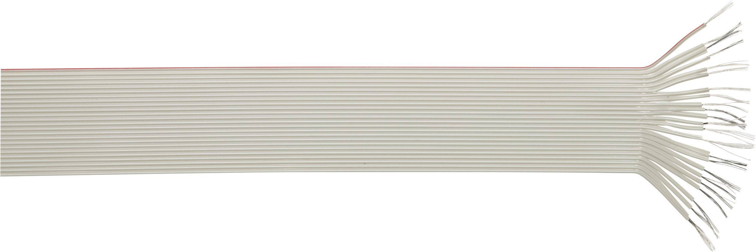 Plochý kábel LappKabel 49900045, rozteč 2.5 mm, 8 x 0.23 mm², sivá, metrový tovar