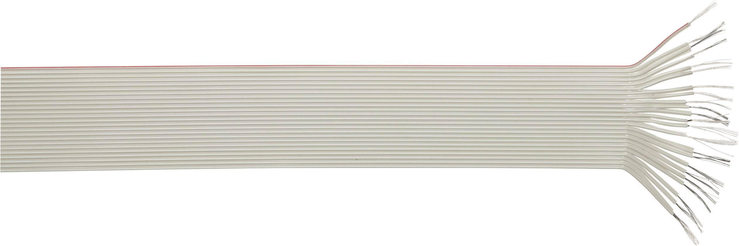 Plochý kabel LappKabel 49900050, nestíněný, 1 m, šedá