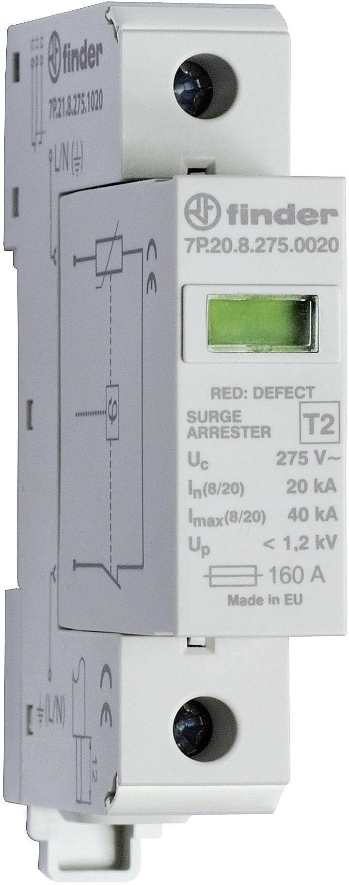 Zvodič pre prepäťovú ochranu Finder 7P.21.8.275.1020 7P.21.8.275.1020, 20 kA