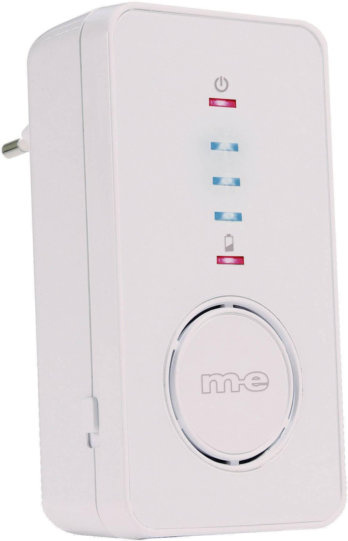 Bezdrátový zvonek m-e modern-electronics Bell-220.3 RX 41157, přijímač, bílá