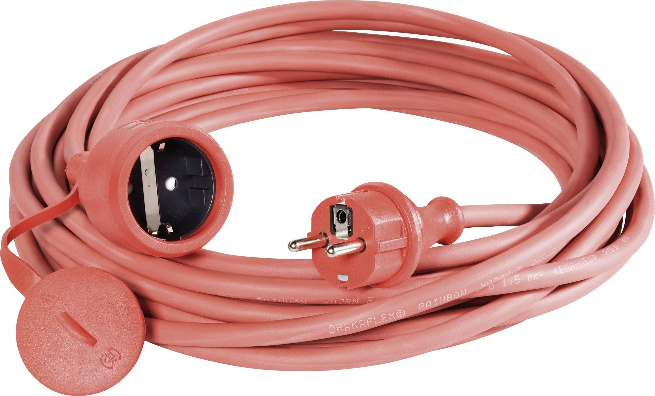 Napájací predlžovací kábel 346.325.04, IP44, červená, 25 m