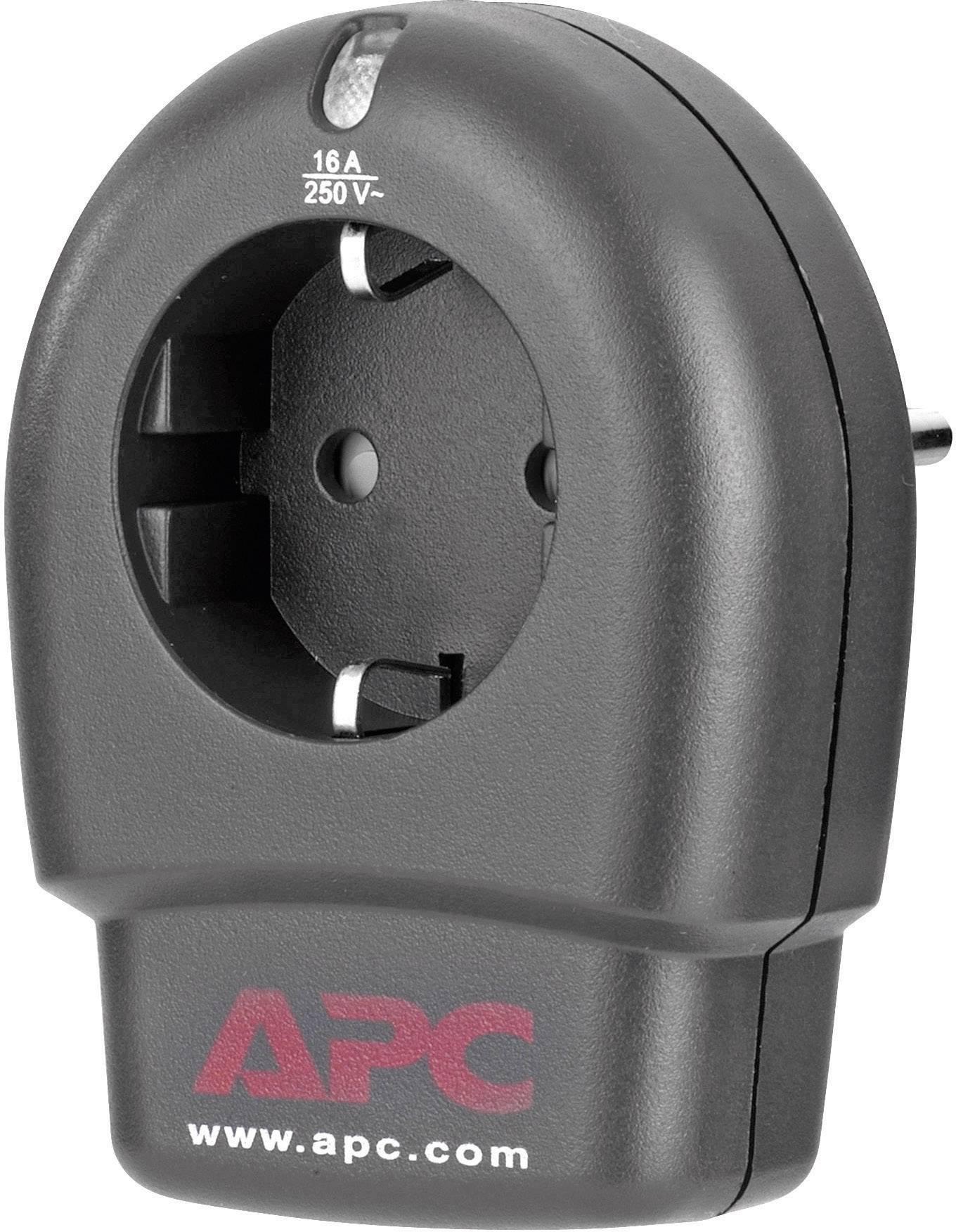 Medzizásuvka s prepäťovou ochranou APC by Schneider Electric P1T-GR 1406762, 13 kA, antracitová