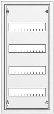 4řadá rozvodná skříň Striebel & John AP na omítku, 48 modulů, IP43, 30121
