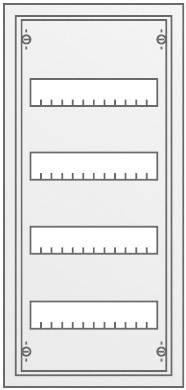 4-radová rozvodná skriňa Striebel & John AP na omietku, 48 modulov, IP43, 30121