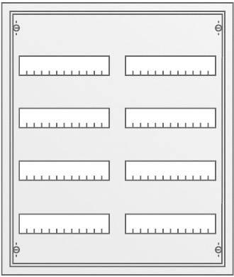 4řadá rozvodná skříň Striebel & John AP na omítku, 96 modulů, IP43, 30122