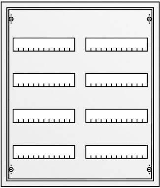 4-radová rozvodná skriňa Striebel & John AP na omietku, 96 modulov, IP43, 30122