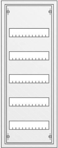 5řadá rozvodná skříň Striebel & John AP na omítku, 60 modulů, IP43, 30124