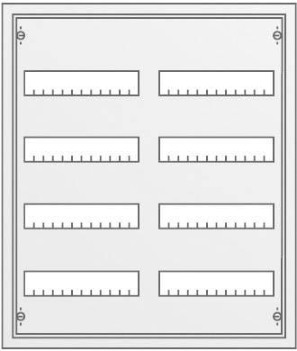 4-radová rozvodná skriňa Striebel & John AP pod omietku, 96 modulov, IP31, 30102