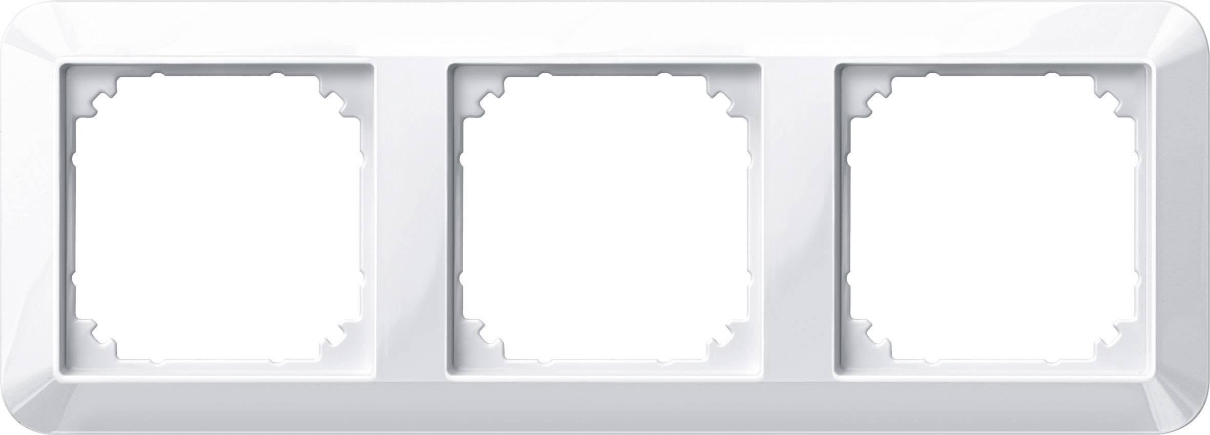 Rámeček 3násobný Merten M-1, polární bílá (389319)