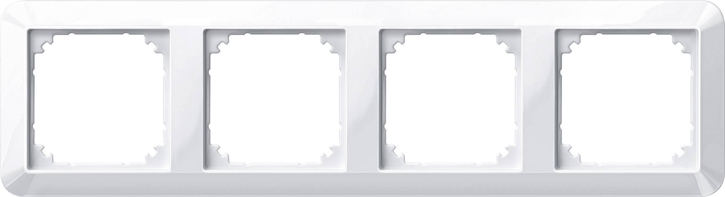 Rámeček 4násobný Merten M-1, polární bílá (389419)