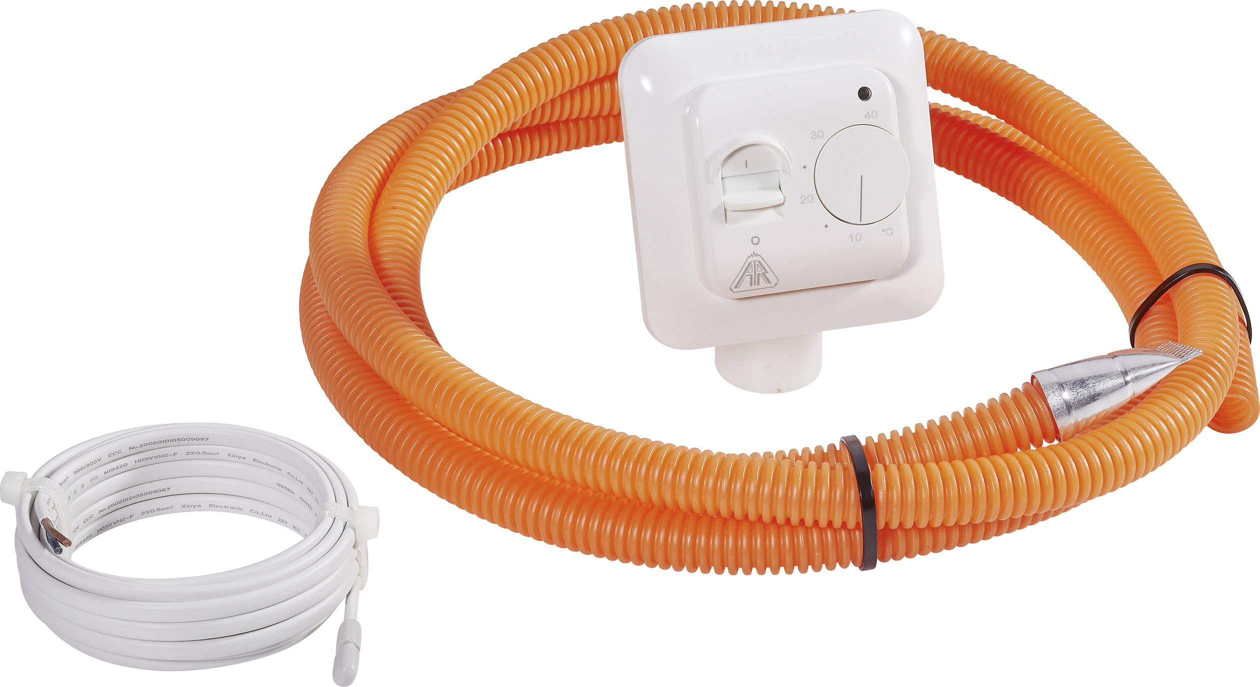 Izbový termostat pre podlahové vykurovanie Arnold RakOTN, 5 až 40 °C, biely