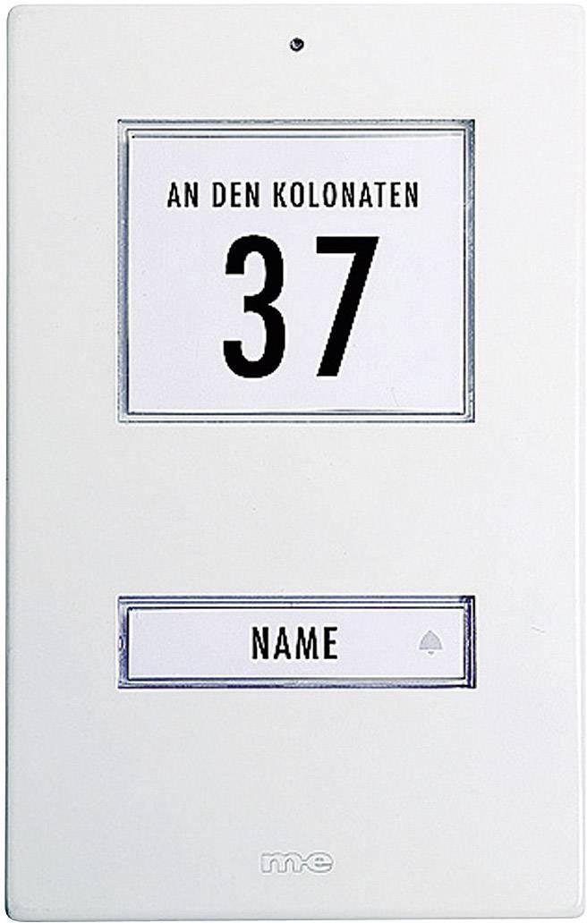 Zvonková deska M-e GmbH KT 1-AW, 1 tlačítko, max. 12 V/1 A , bílý hliník