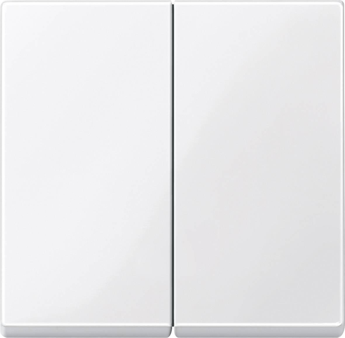 Kryt sériového spínače do krabičky Merten, polární bílá (432519)