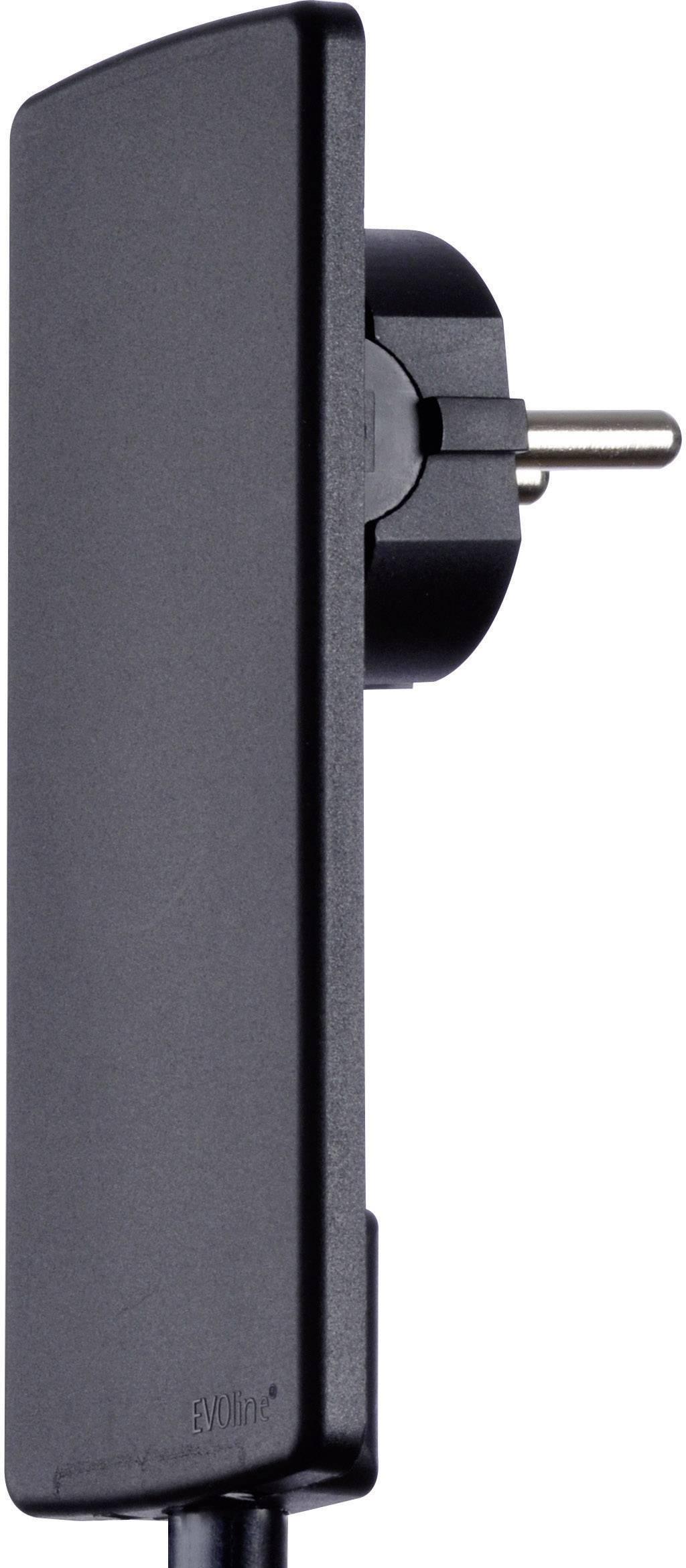 Plochá zástrčka SchuKo EVOline EVOline Plug 1510.0000.0100, umelá hmota, 230 V, čierna