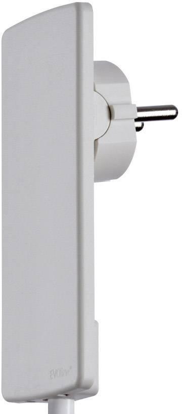 Plochá zástrčka SchuKo EVOline EVOline Plug 1510.0000.0300, plast, S pomůckou po vytažení , 230 V, bílá