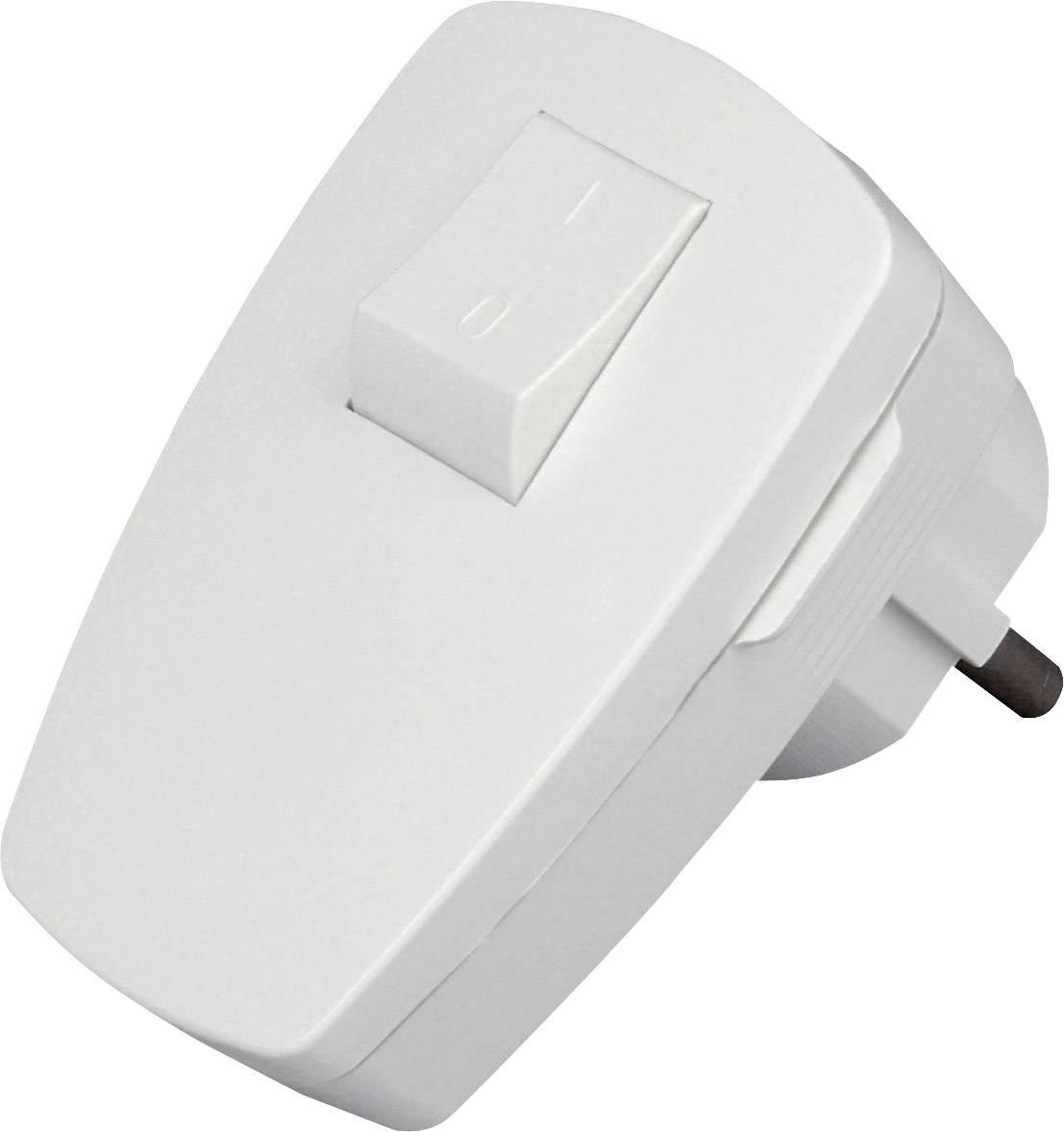 Úhlová zástrčka SchuKo Kopp 170402006, umelá hmota, IP20, 230 V, biela