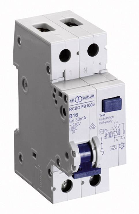 Prúdový chránič ABL Sursum RC1603, 1-pólový, 16 A, 0.03 A, 230 V