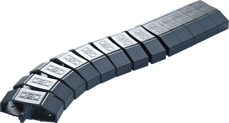 Flexibilní lišta na kabely OBO Bettermann, 6154930, 1000 mm, černá/šedá