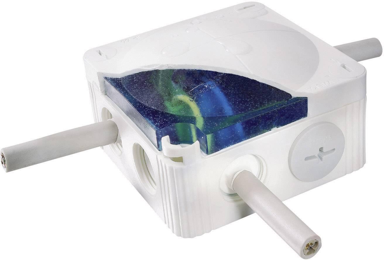 Rozbočovací krabice s injektáží Wiska Combi, IP68, šedá, 10060457