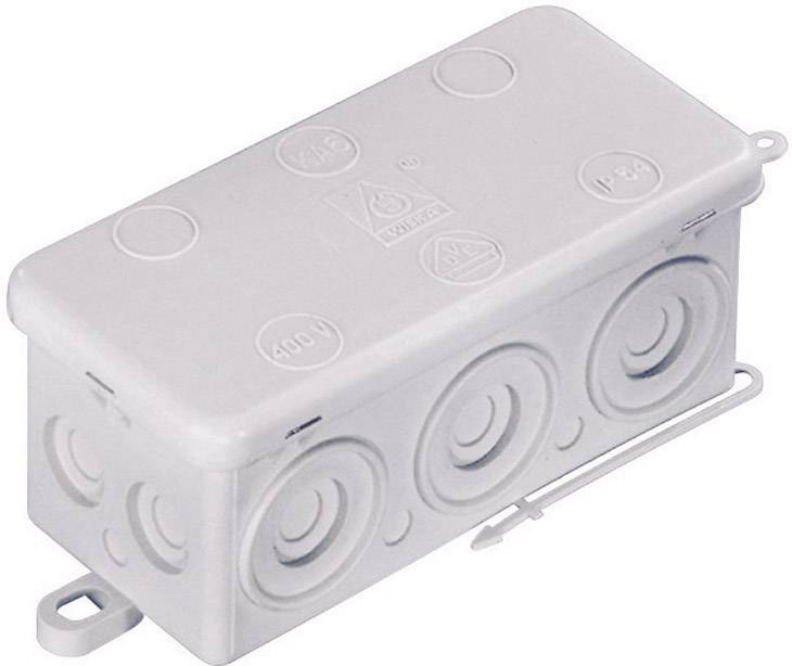 Rozbočovacia krabica do vlhkých priestorov Wiska KA 6, IP54, sivá, 10060818