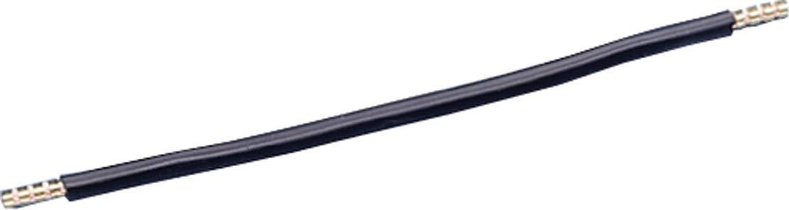 Kabelová propojka, 260 mm, 6 mm2, černá