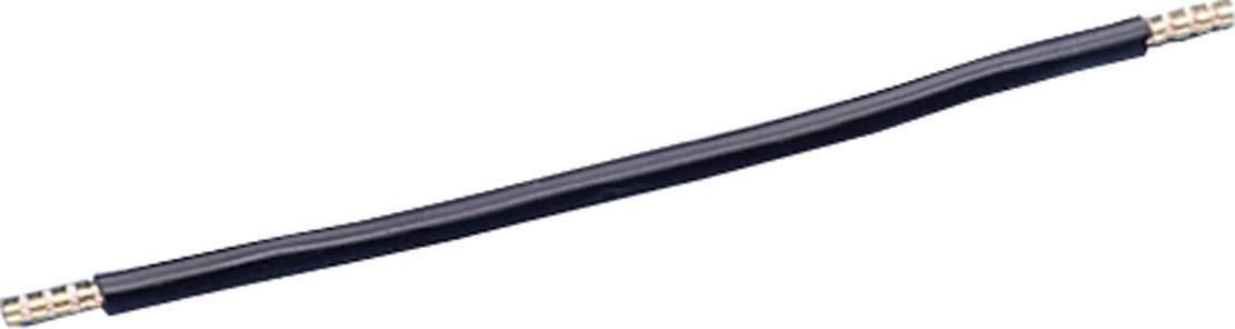 Kabelová propojka, 350 mm, 6 mm2, černá