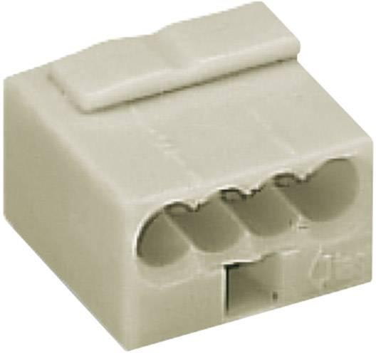 Krabicová svorka WAGO na kábel s rozmerom 0.6- , pólů 4, 1 ks, svetlo sivá