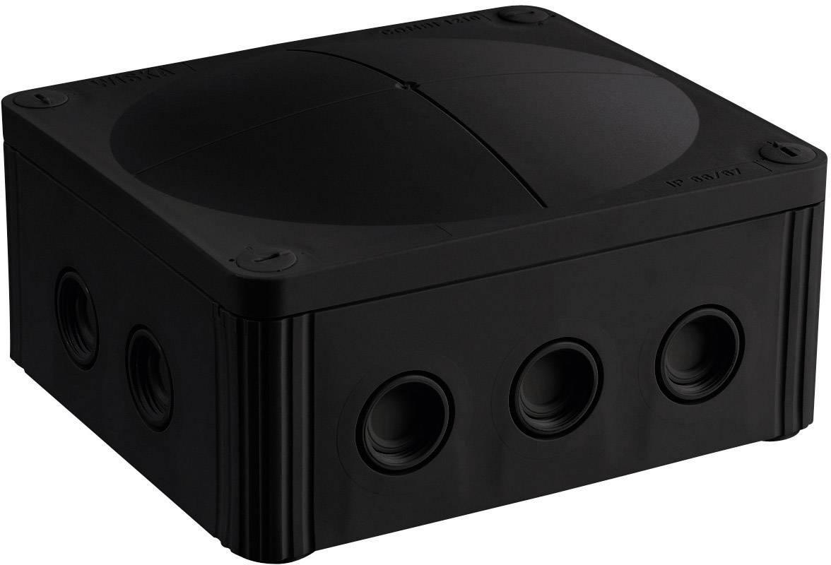 Rozbočovacia krabica do vlhkých priestorov Wiska Combi 1210, IP66/IP67, čierna, 10101460