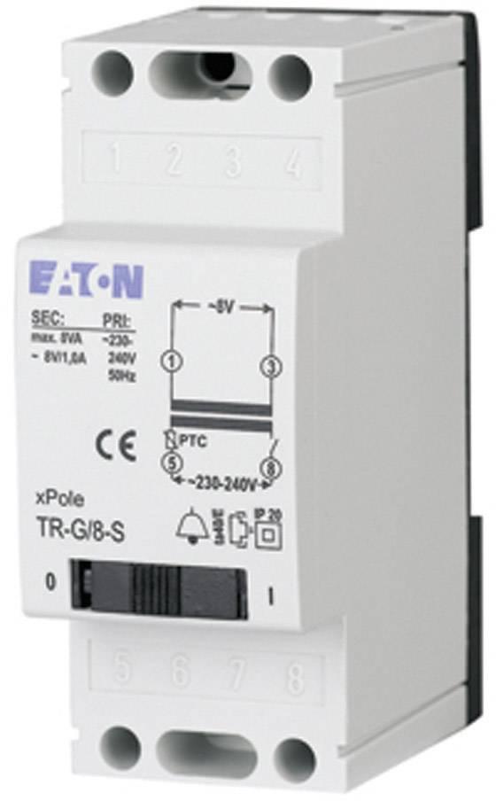 Zvonkový transformátor na lištu Eaton TR-G3/18 272483, 8 V/AC, bílá