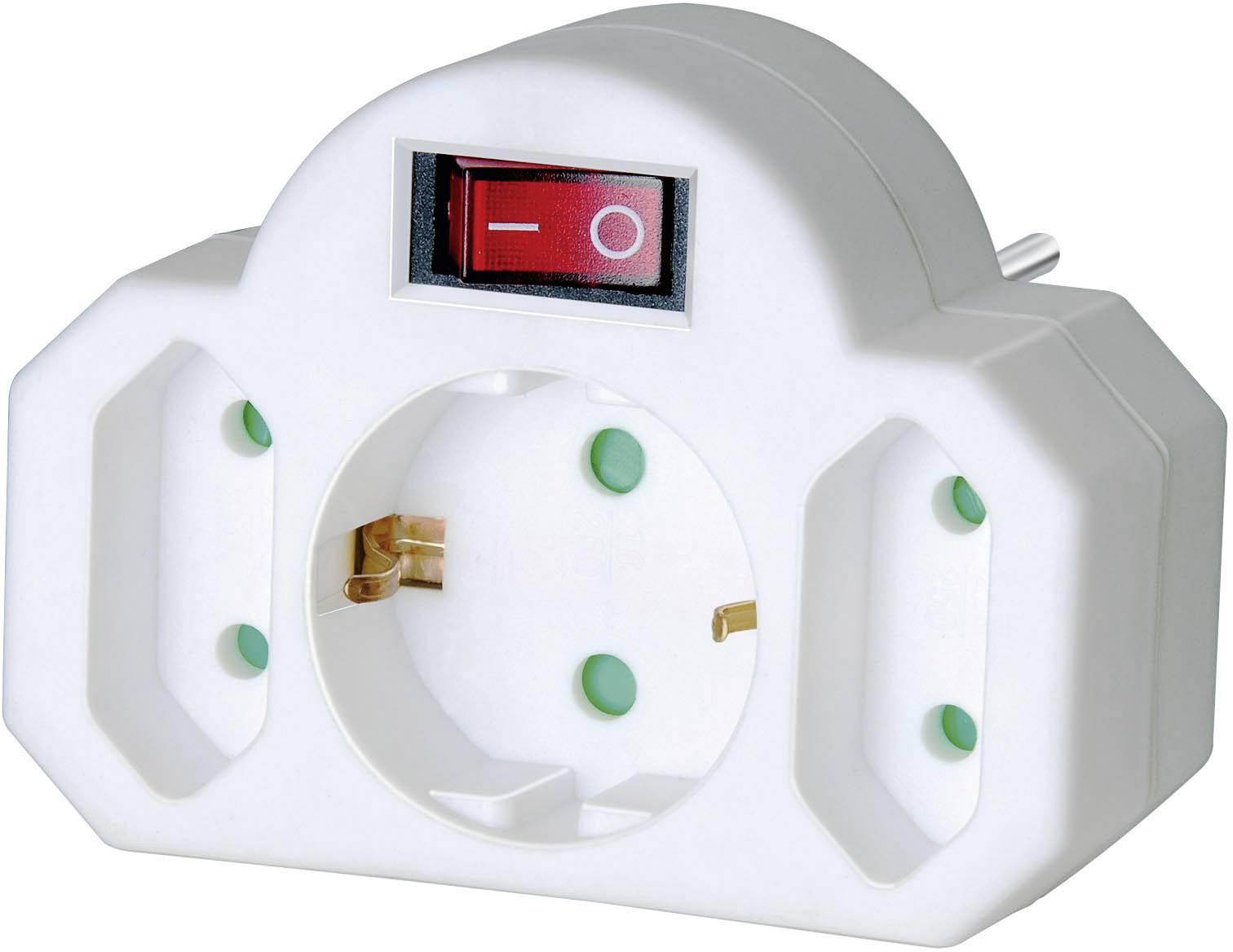 Zásuvkový adaptér Brennenstuhl se spínačem, 3 zásuvky, 1508100