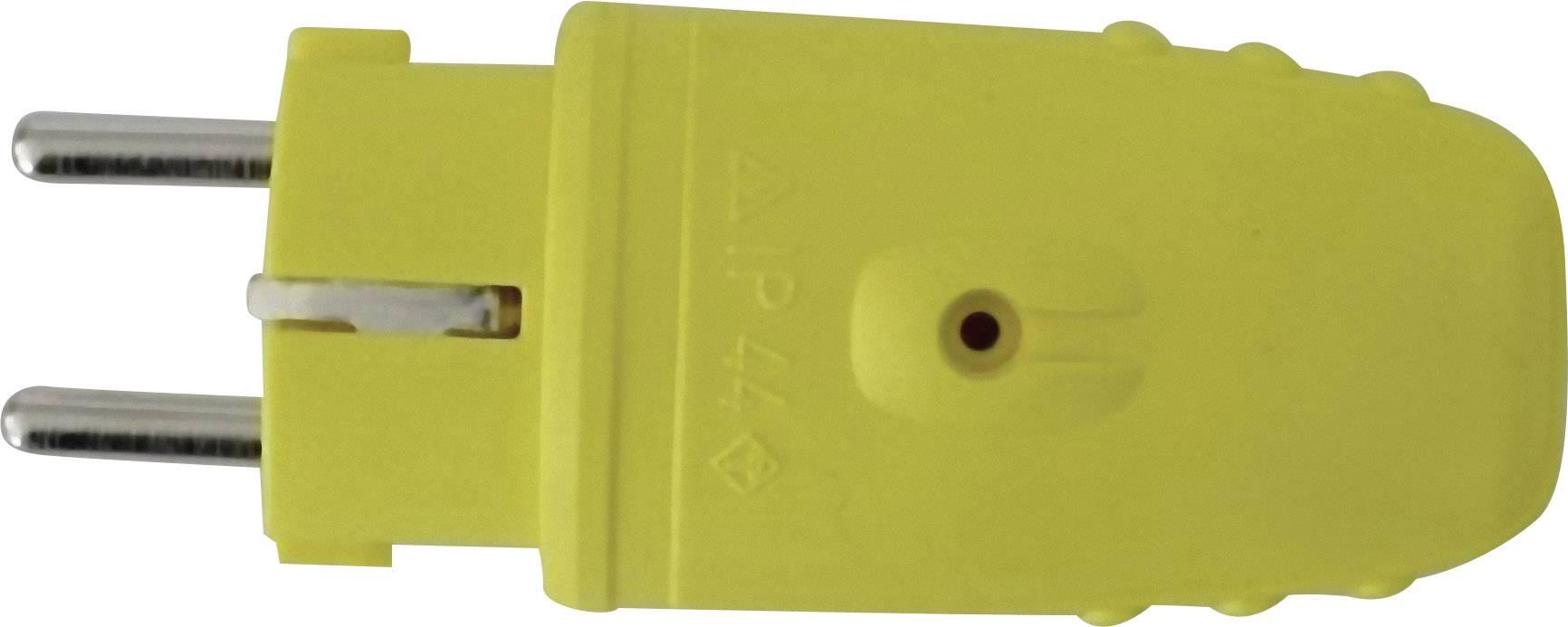 Zástrčka SchuKo GAO 612015, guma, IP20, 230 V, žltá