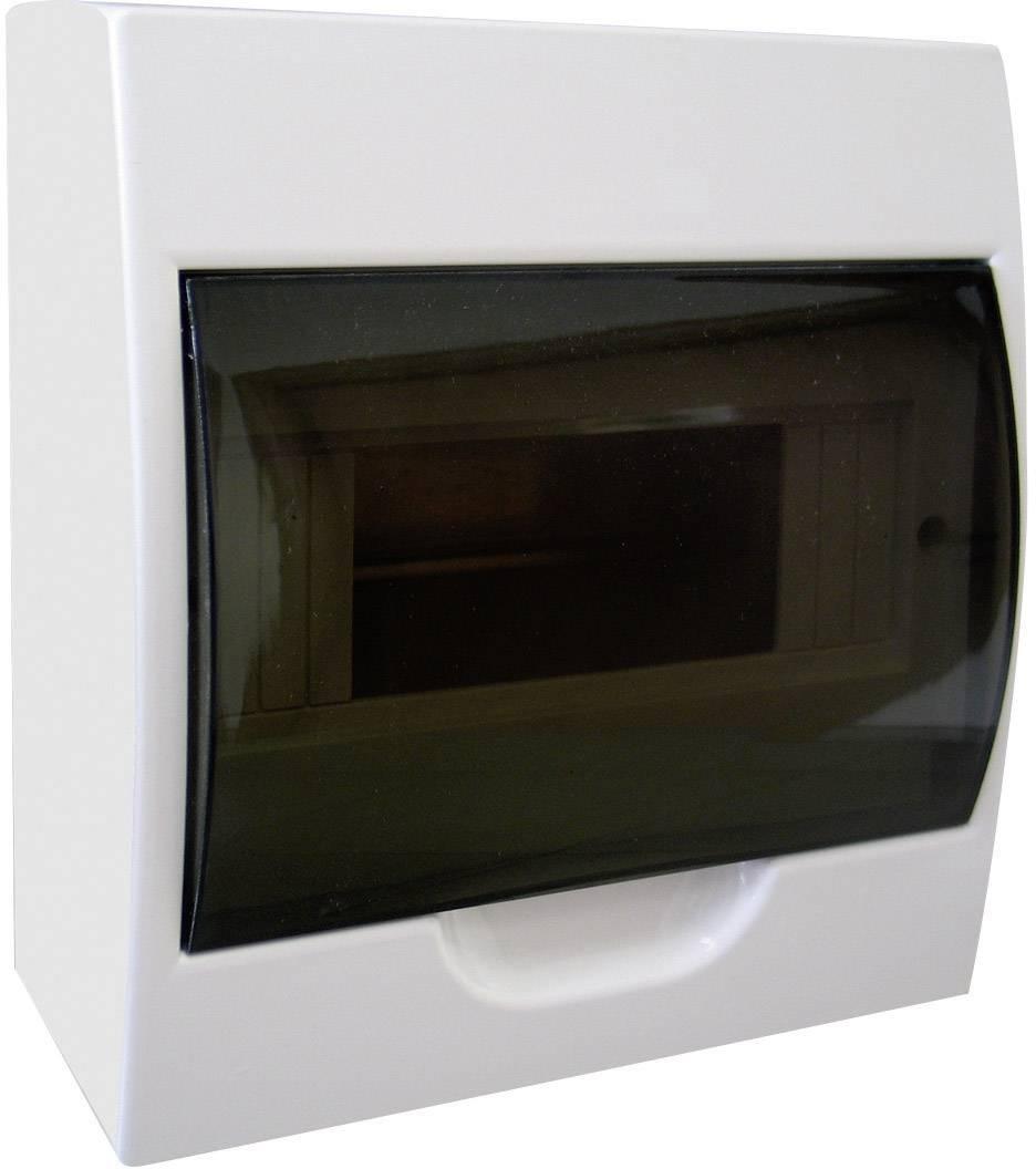 Jednoradový rozvádzač na omietku, 8 modulov, IP40