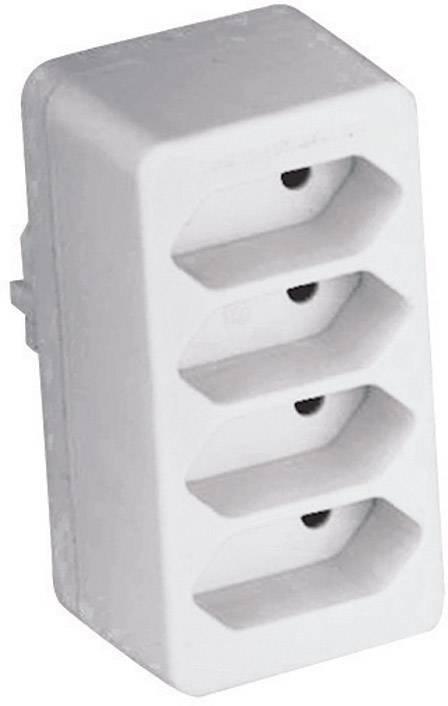 Zásuvková rozbočka 0130, 4 zásuvky, bílá