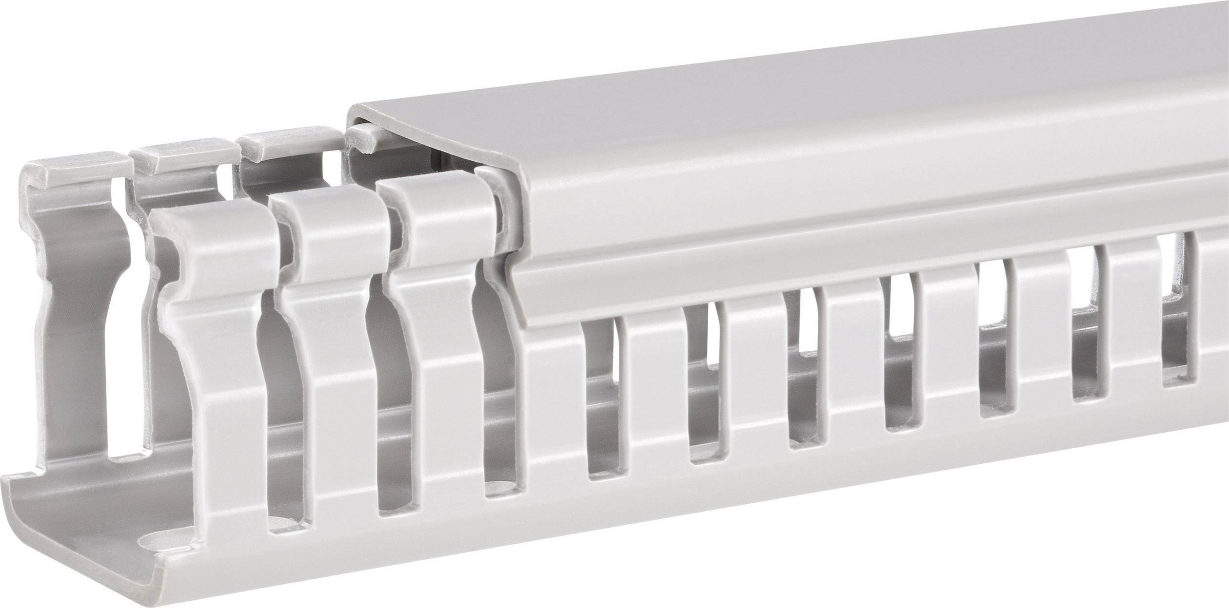Elektroinstalační lišta Hager, BA6 60060, 67x64 mm, 2 m, šedá