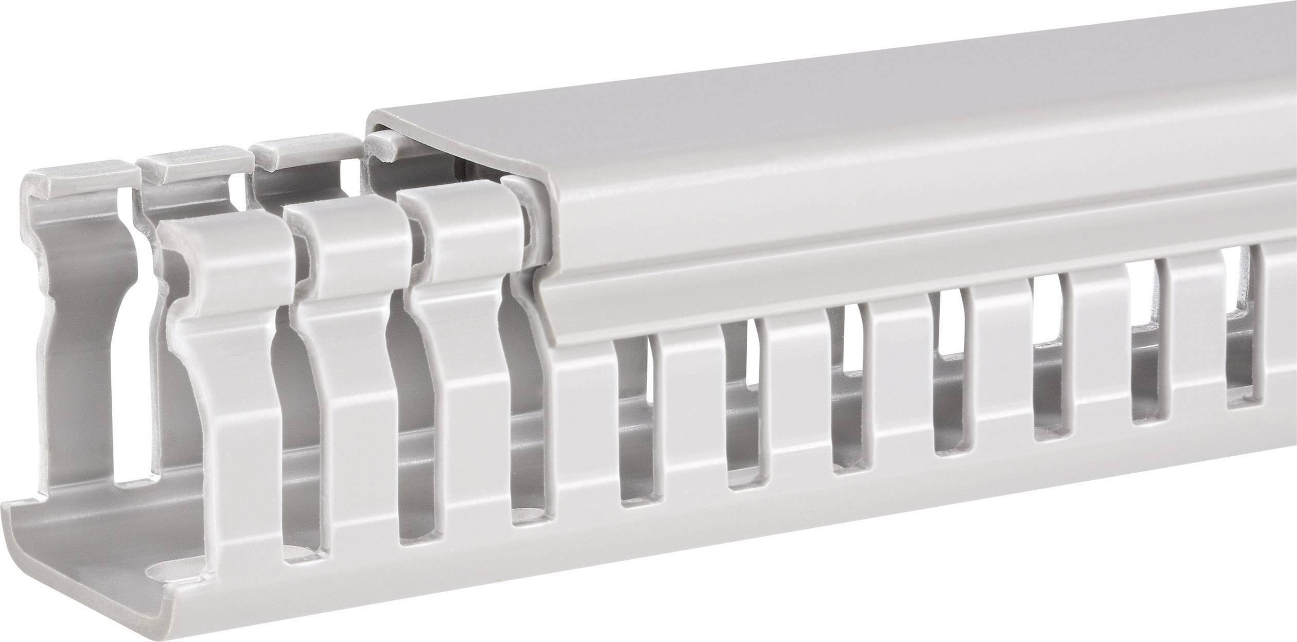 Elektroinstalační lišta Hager, BA6 80025, 31x84 mm, 2 m, šedá