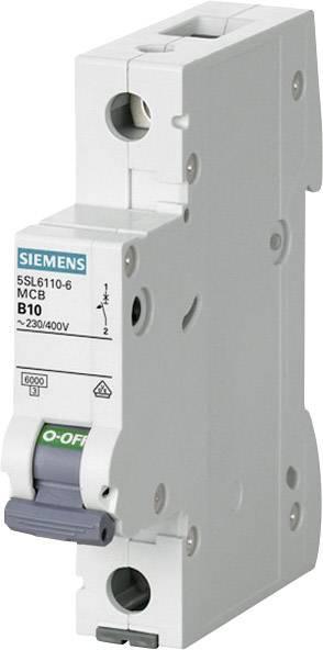 Elektrický istič Siemens 5SL6110-7, 1-pólový, 10 A