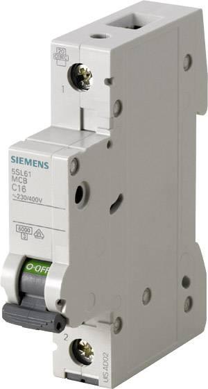 Elektrický istič Siemens 5SL6116-6, 1-pólový, 16 A