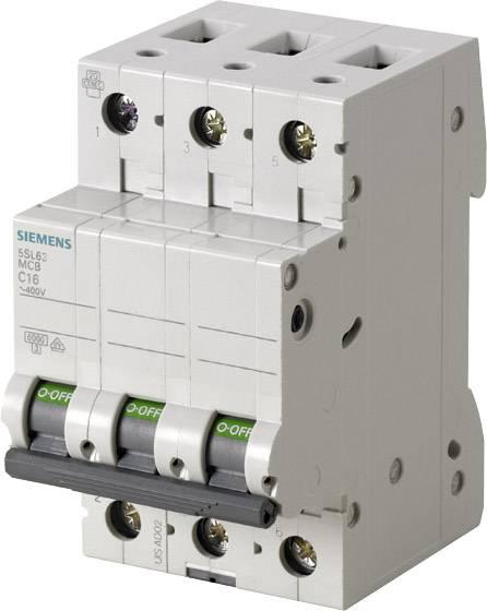 Elektrický istič Siemens 5SL6316-6, 3-pólové, 16 A