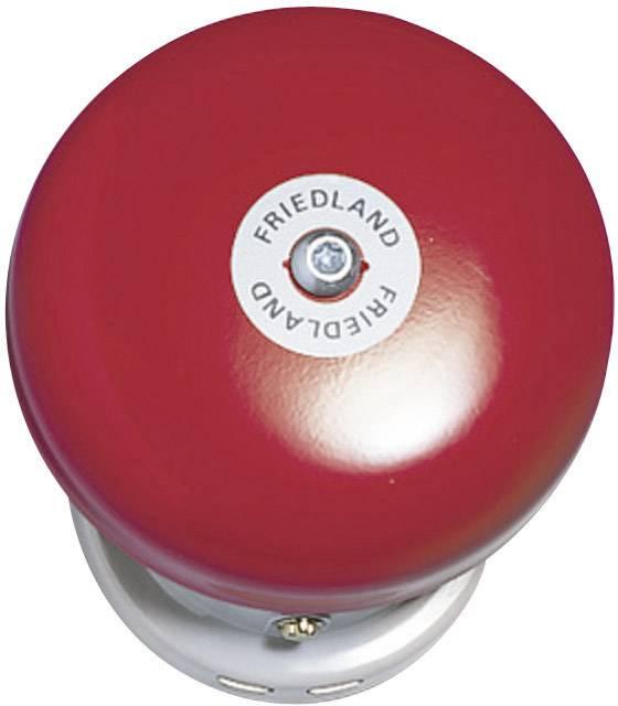 Zvonek Friedland, 581089, 24 V/DC - 42 V/DC, 91 dBA, červený