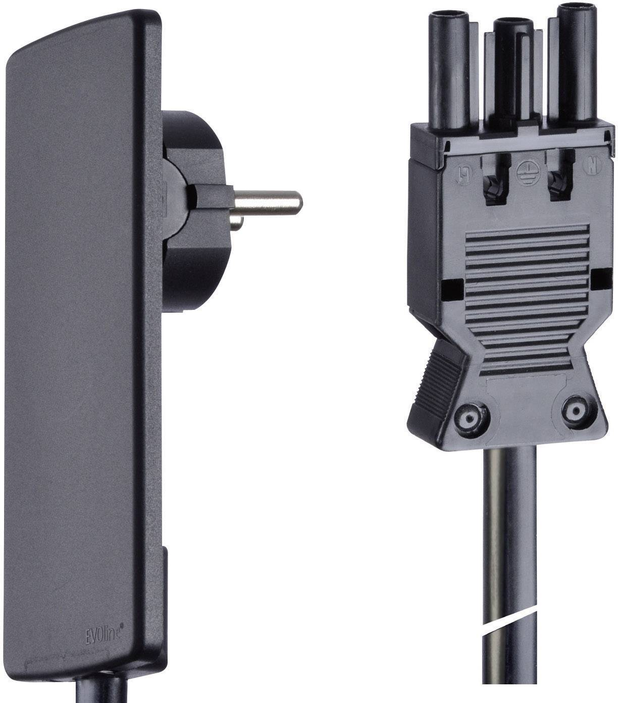 Pripojovací kábel so zástrčkou GST 18, 1,5 m, čierny