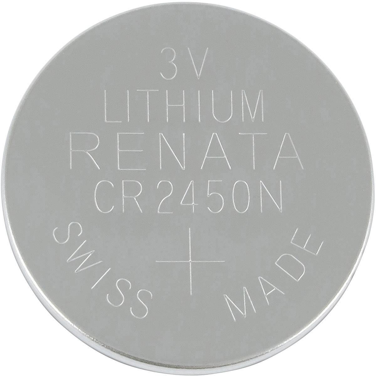 Gombíková batéria CR 2450N lítium Renata, 540 mAh, 3 V