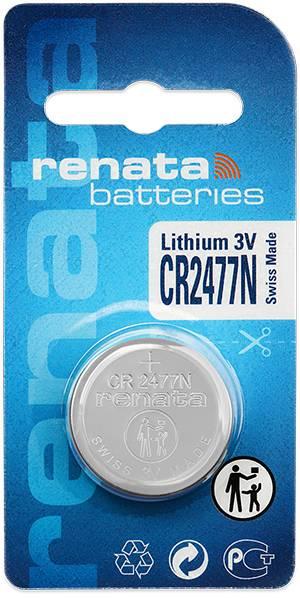 Gombíková batéria CR 2477N lítium Renata, 950 mAh, 3 V