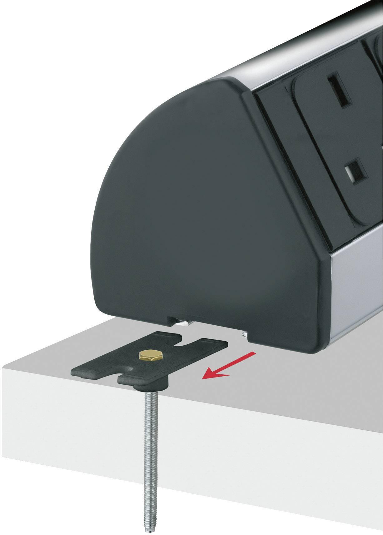 Sada úchytů pro montáž na stůl Schulte Elektrotechnik, 159909038200