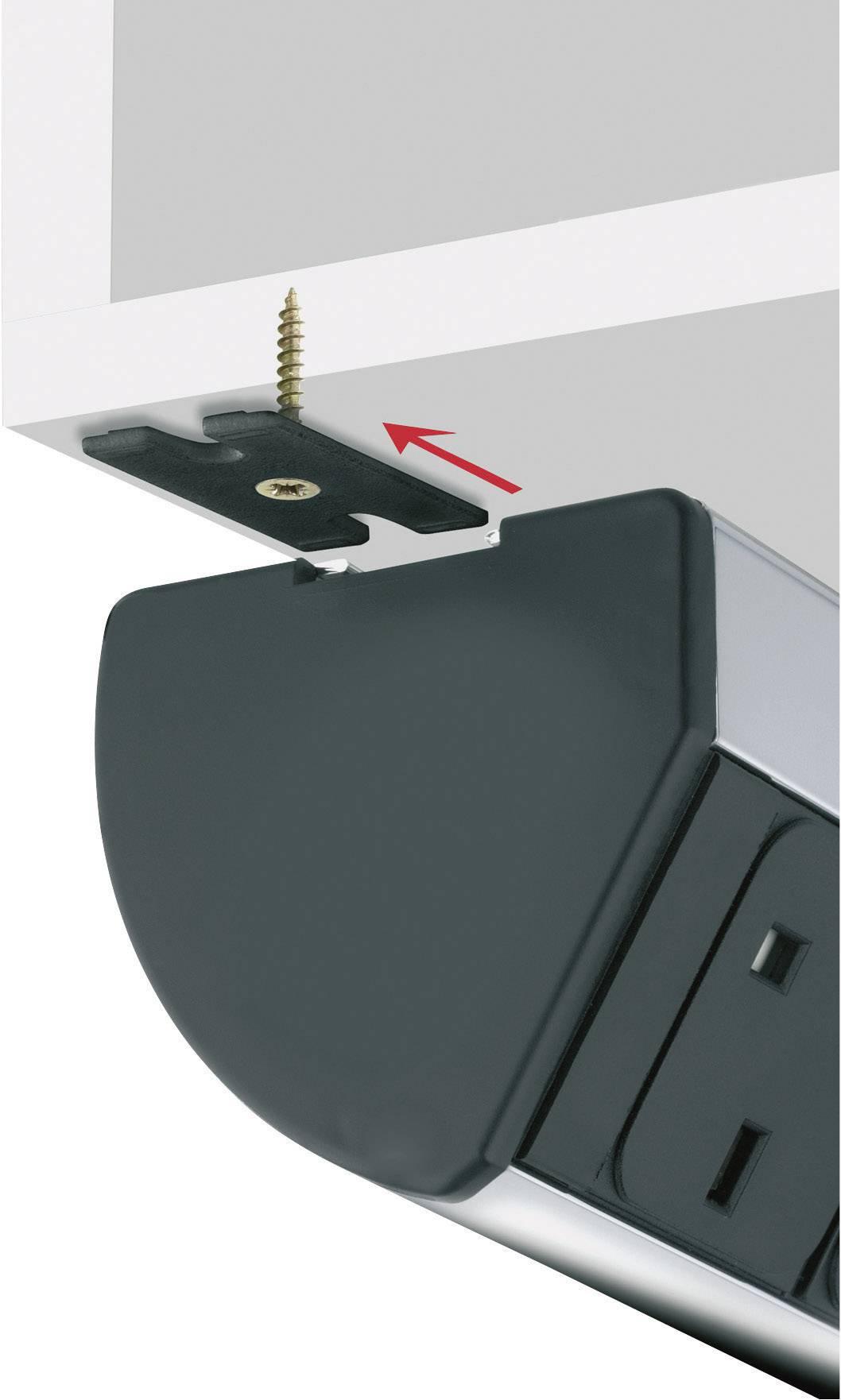 Sada úchytů pro montáž ze spodní části stolu Schulte Elektrotechnik, 99090383, černá